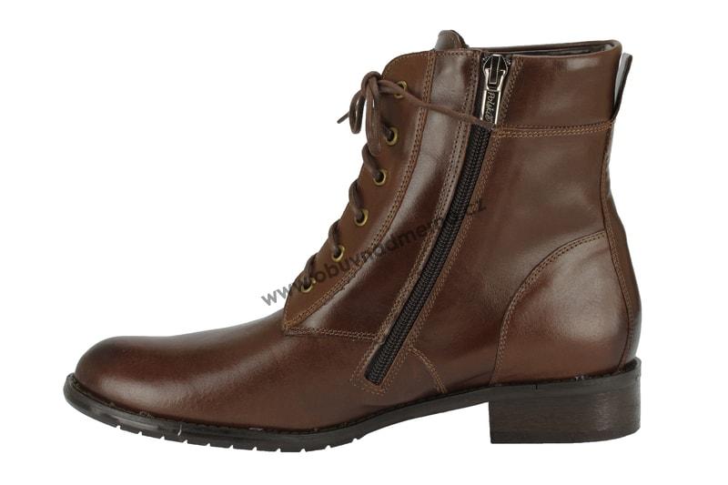 b719f6c2017 Nadměrné kotníkové zimní boty De Plus hnědé 9690 - Kotníkové