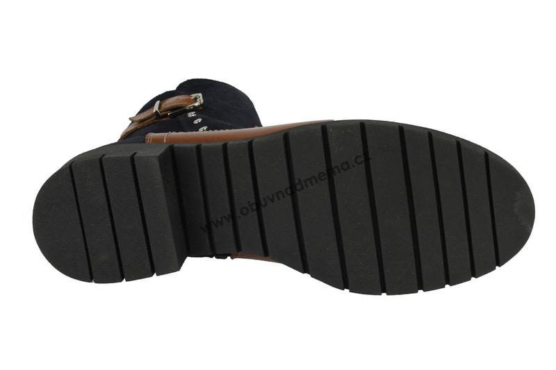 1cf157c2db2 Nadměrné kotníkové zimní boty De Plus modro-hnědé 9748 LARA ...