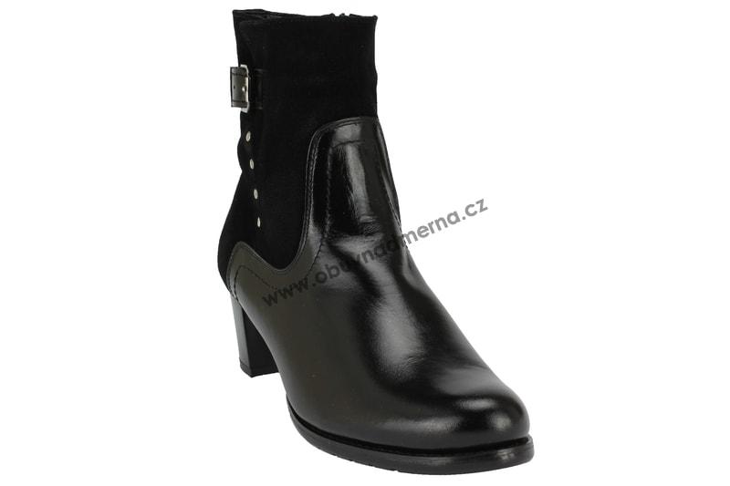 20268657ec1 Nadměrné kotníkové boty De Plus černé 9749 1211 - Kotníkové