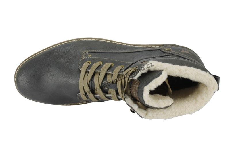 77be97ddb1eb3 Nadměrné zimní boty Mustang graphit 4092-609-259 - Zimní, Pánské ...