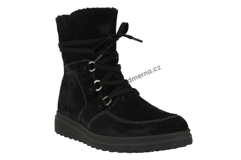 Nadměrné kotníkové boty Gabor černé 93.801.77 - Kotníkové 8255706bb6