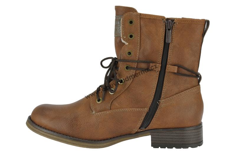Nadměrné kotníkové boty Mustang kastanie 1139-630-301 - Kotníkové ... 2c88cc25f4