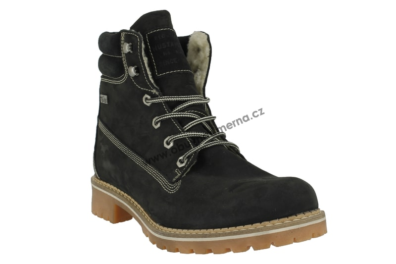 50c07ff5ff2 Nadměrné kotníkové boty Mustang černé 2837-604-9 - Zimní