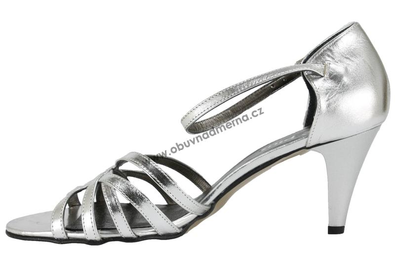 Nadměrné páskové boty De Plus stříbrné 9352 7012 - Sandály ... c8acfd499f