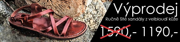 74634b0a16f3 Výprodej - nadměrné ručně šité kožené sandály