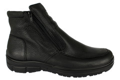Nadměrné kotníkové zimní boty Jomos s ovčí vlnou černé ca3b66c677